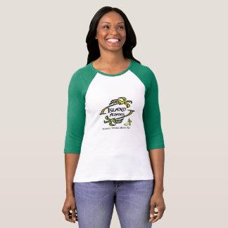 Dames d'Adam d'île 3/4 douille T T-shirt