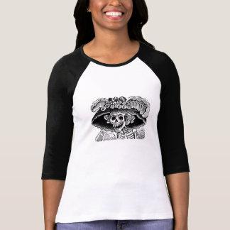 Dames de Calavera Catrina 3/4 T-shirt de raglan de