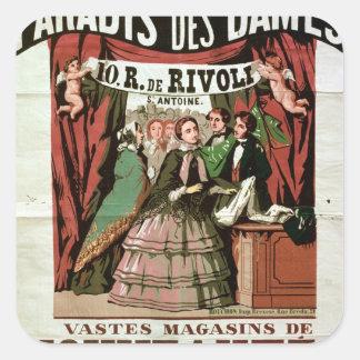 Dames de DES de Paradis d'Au de publicité par Sticker Carré