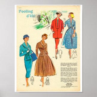 dames de femme élégante de mode de robe de posters