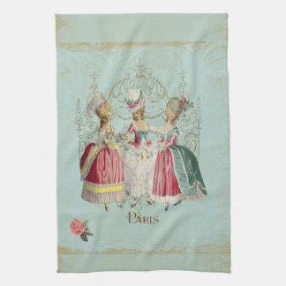 Dames de Marie Antoinette dans l attente Serviettes Éponge