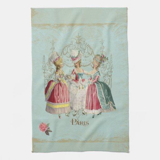 Dames de Marie Antoinette dans l'attente Serviettes Éponge