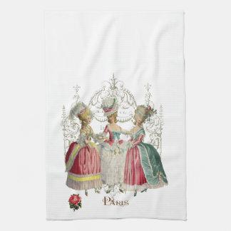 Dames de Marie Antoinette dans l'attente Linges De Cuisine
