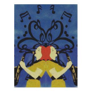 Dames de saxophone carte postale