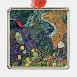 Dames de Vincent van Gogh | d'Arles, 1888 Ornement Carré Argenté