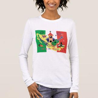Dames heureuses de Cinco De Mayo T-shirt À Manches Longues