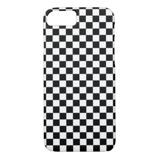 Damier blanc noir coque iPhone 7