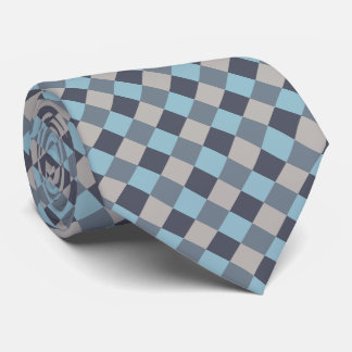 Damier de graine de coton de gris bleu de truite cravates