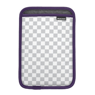 Damier gris-clair housse pour iPad mini