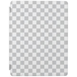 Damier gris-clair protection iPad