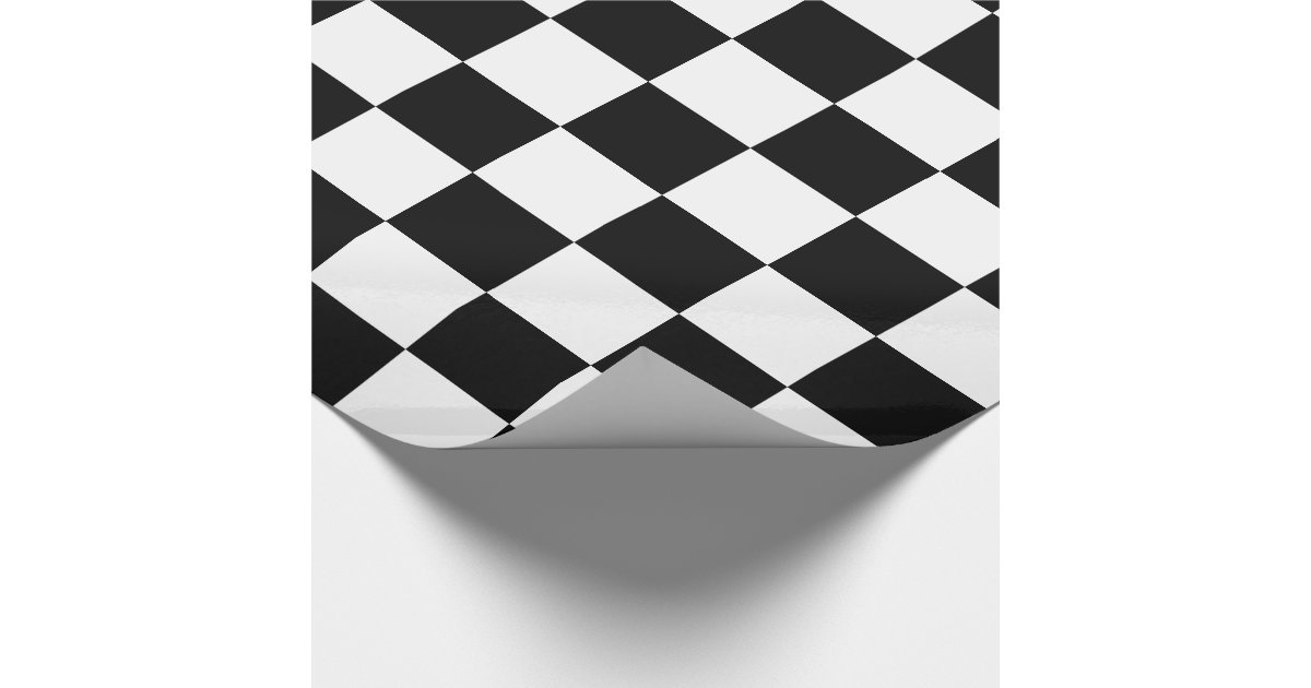 damier noir et blanc papier cadeau zazzle. Black Bedroom Furniture Sets. Home Design Ideas