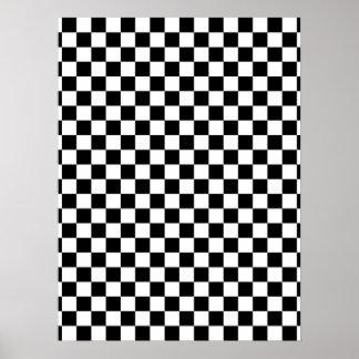 Damier noir et blanc posters