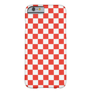 Damier rouge coque barely there iPhone 6