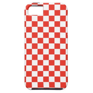 Damier rouge coque Case-Mate iPhone 5