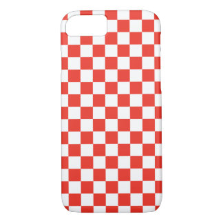 Damier rouge coque iPhone 7