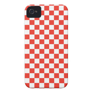 Damier rouge coques Case-Mate iPhone 4