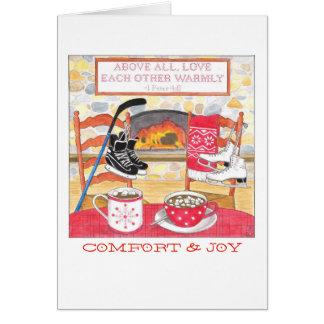 D'amour carte de Noël chaudement