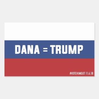 Dana = autocollant russe de drapeau d'atout