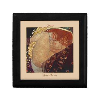 Danaë par Gustav Klimt a couvert de tuiles la boît Petite Boîte À Bijoux Carrée