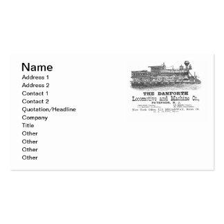 Danforth Locomotive et Machine Company Carte De Visite Standard