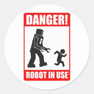 Danger ! Autocollant en service de robot