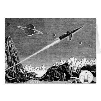 Danger dans l'espace lointain (1) carte de vœux