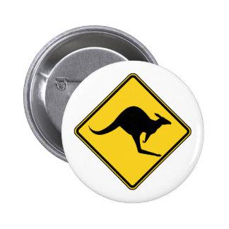 danger d'avertissement de kangourou dans le jour d pin's