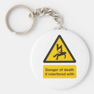Danger de porte - clé de la mort porte-clé rond