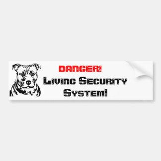 DANGER ! Living Sec… Autocollant De Voiture