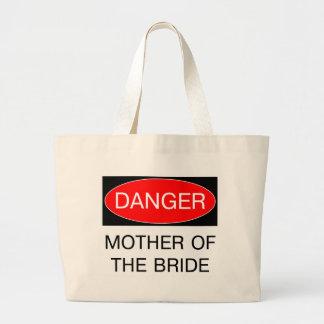 Danger - mère du T-shirt drôle de mariage de jeune Grand Sac