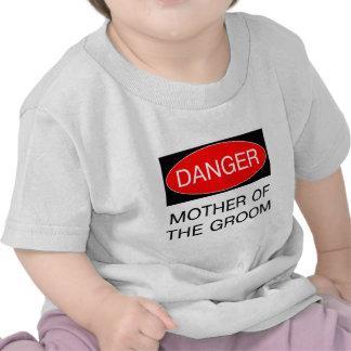Danger - mère du T-shirt drôle de mariage de marié