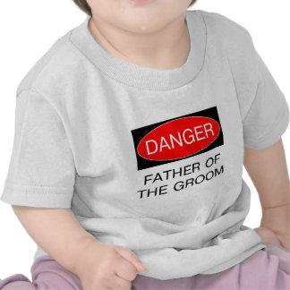 Danger - père du T-shirt drôle de mariage de marié