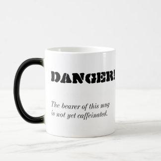 """""""Danger !"""" Tasse de café Morphing"""