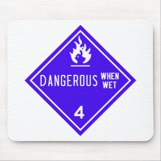 dangereux si humide tapis de souris