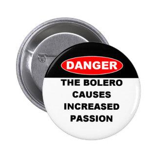 Dangers des boutons de boléro badges
