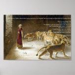 Daniel dans la copie d'art de bible du repaire du  posters