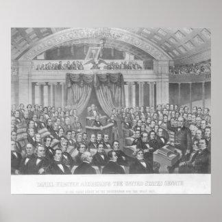 Daniel Webster adressant les Etats-Unis Poster