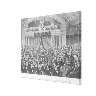 Daniel Webster adressant les Etats-Unis Toiles Tendues Sur Châssis