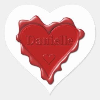 Danielle. Joint rouge de cire de coeur avec Sticker Cœur