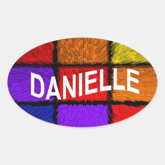 DANIELLE STICKER OVALE