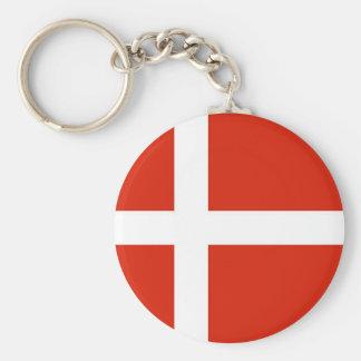 Dannebrog ; Le drapeau officiel du Danemark Porte-clé Rond
