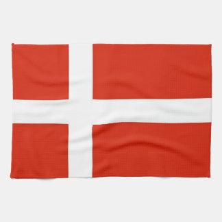 Dannebrog ; Le drapeau officiel du Danemark Serviettes Éponge