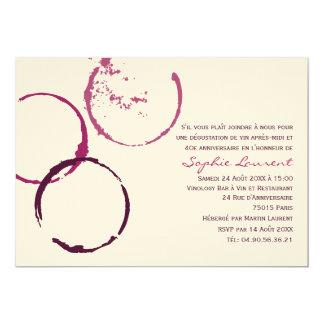 d'Anniversaire de Vin Invitation Orientée de Fête
