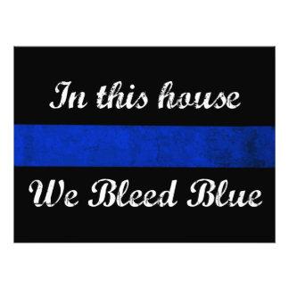 Dans cette maison nous saignons le bleu impression photo