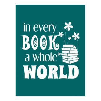 Dans chaque livre une carte postale entière du