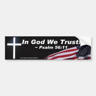 Dans Dieu nous faisons confiance à l'adhésif pour  Autocollant Pour Voiture