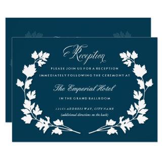 Dans la carte de réception de mariage de jardin de