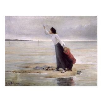 Dans la détresse, marée croissante carte postale