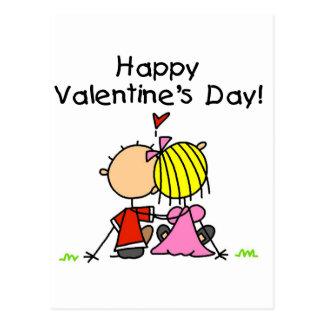Dans la heureuse Sainte-Valentin d'amour Carte Postale