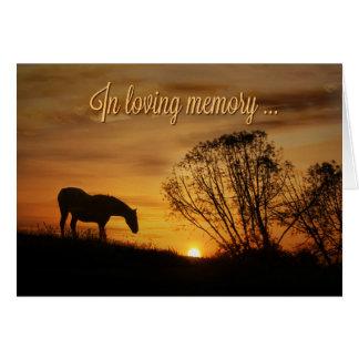 Dans la mémoire affectueuse et la carte de cheval